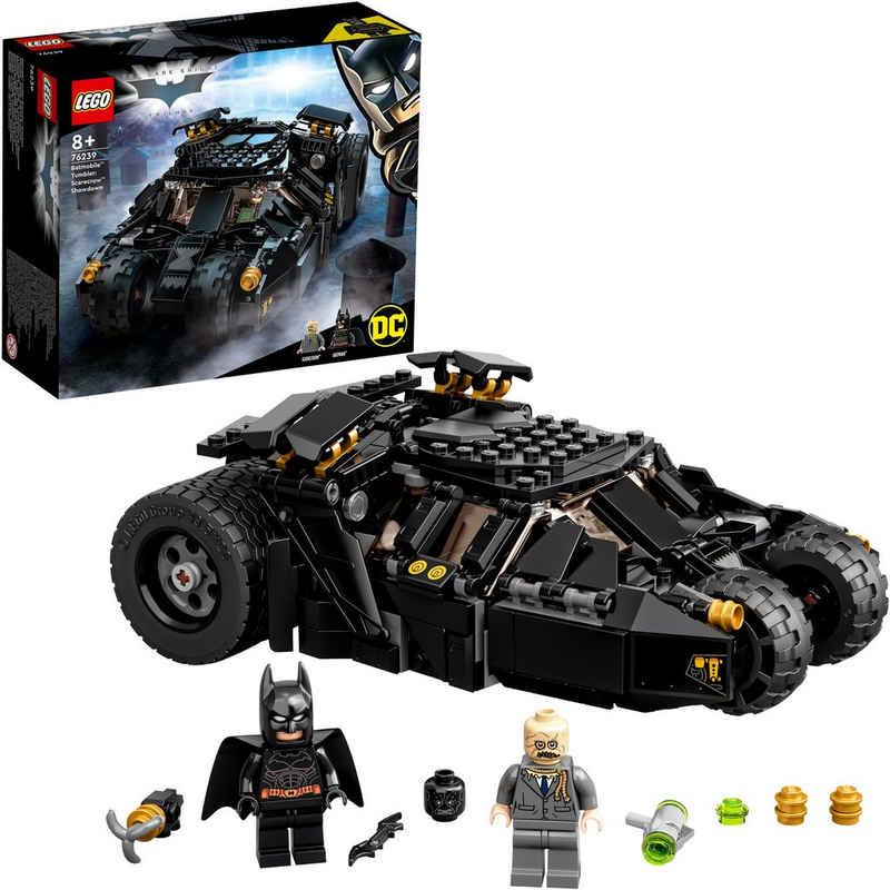 LEGO® Konstruktionsspielsteine »Batmobile™ Tumbler: Duell mit Scarecrow™, LEGO® DC Batman™«, (422 St), Made in Europe