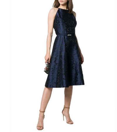 Lauren Ralph Lauren Cocktailkleid »LAUREN RALPH LAUREN Petrah Cocktail-Kleid elegantes Damen Kleid mit glänzendem Jacquard Party-Kleid Dunkelblau«