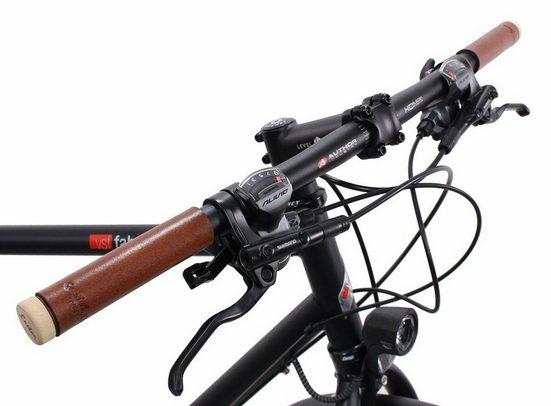 Gusti Leder Fahrradlenkergriff »Albertus G.« (2-St), Lenkertband Leder Lenkergriffe zum selbst anbringen an den Lenker Vintage DIY