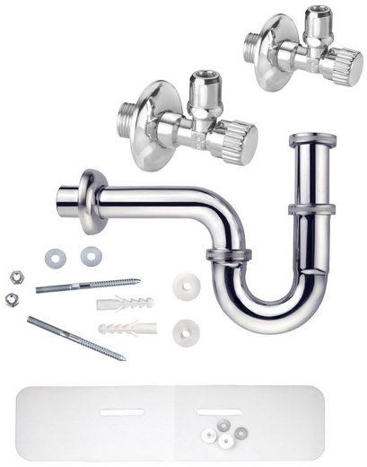 CORNAT Siphon »Waschtisch-Geruchsverschluss«, (Set), mit Schallschutzset