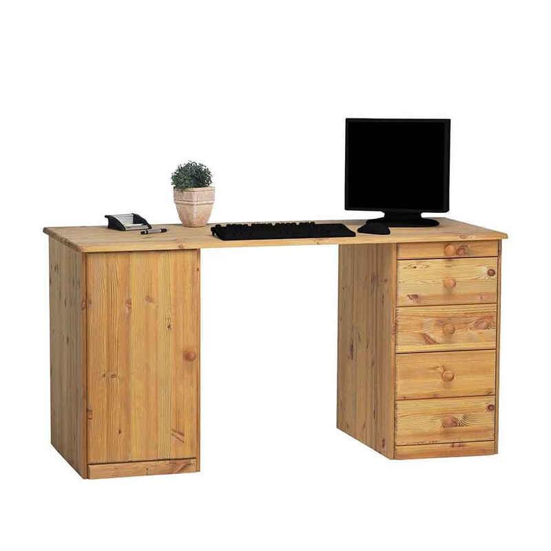 Pharao24 Schreibtisch »Nurzia«, aus Massivholz, mit Stauraum