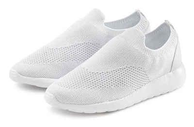 LASCANA Sneaker Slip-In aus bequemem Mesh mit leichter Glanz-Optik