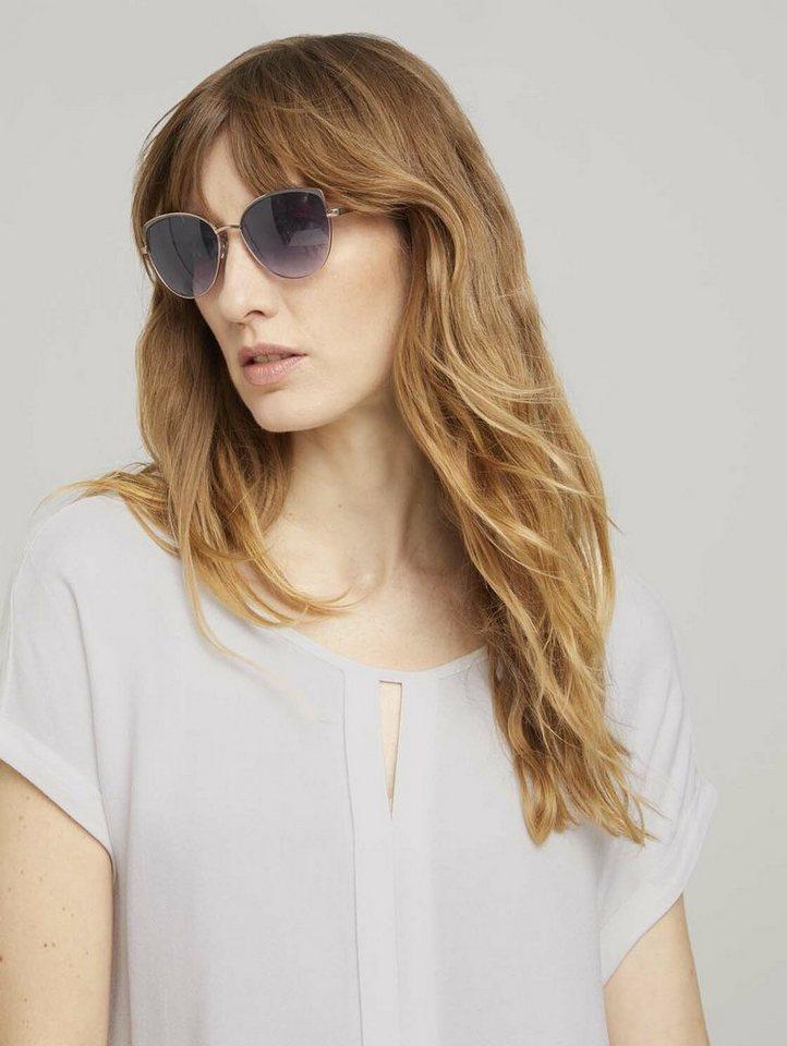 tom tailor -  Sonnenbrille »Feminine Sonnenbrille mit betonter Außenkontur«