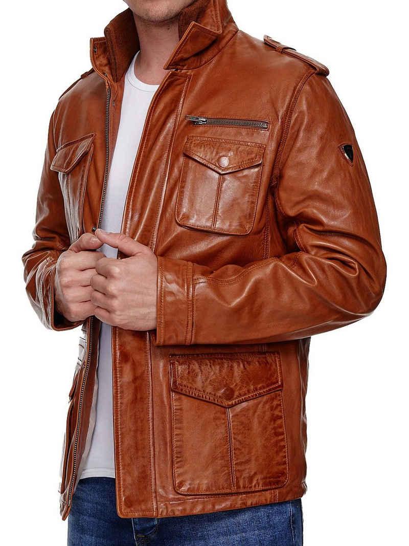 Tazzio Lederjacke »19706« Leder Jacke im Trenchcoat-Look