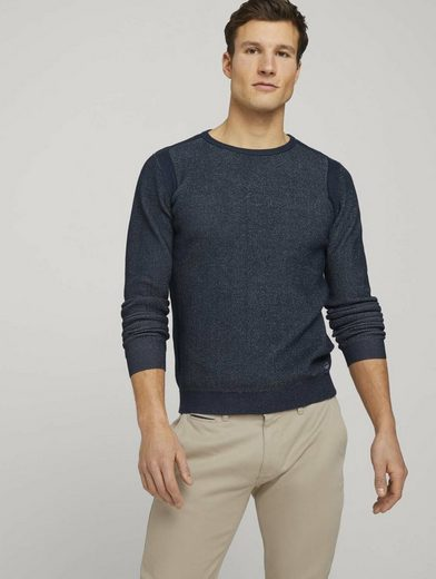 TOM TAILOR Strickpullover »Pullover mit Rippbündchen«