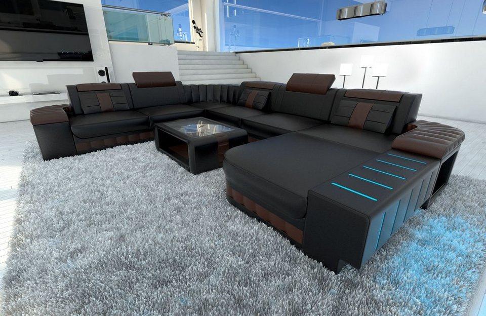 Sofa Dreams Sofa »Bellagio«, U Form XXL, Hochwertige ...