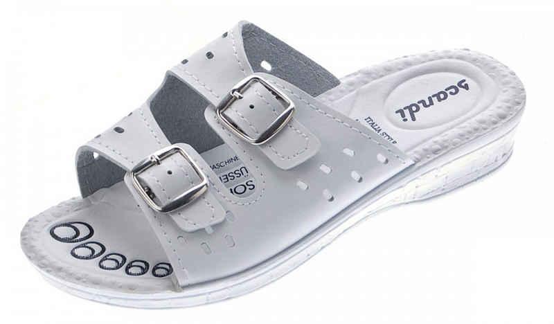 Scandi »Damen Pantoletten Clogs Latschen Schuhe Sandalette« Zehentrenner Gel-Effekt, Komfort-Soft-Fußbett