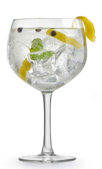 van Well Cocktailglas »Gin Tonic«, Glas, 650 ml, im Geschenkkarton, 4-teilig
