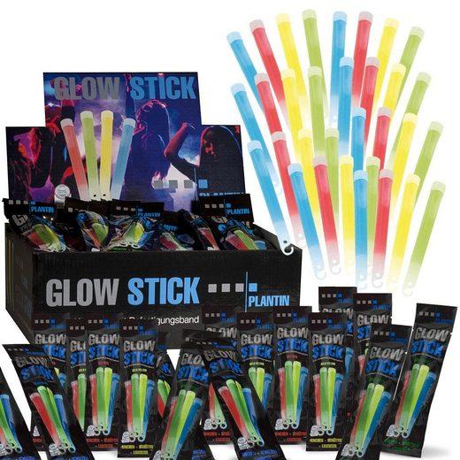 PLANTIN Discolicht »Glow Stick 15cm 60 Stück«, Knicklichter, 4 Farben, Blau, Gelb, Grün, Rot, Leuchtstick, Leuchtstab