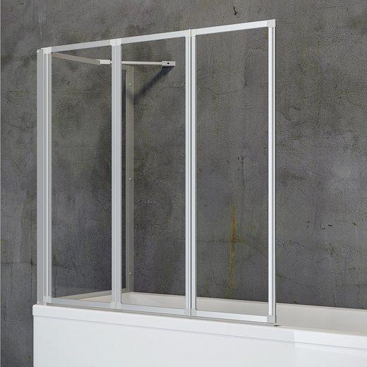 Schulte Badewannenfaltwand »Komfort«, Einscheibensicherheitsglas, (Komplett-Set, 3 tlg), zum Kleben oder Bohren