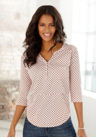 LASCANA 3/4-Arm-Shirt in stilingas Blusenoptik...
