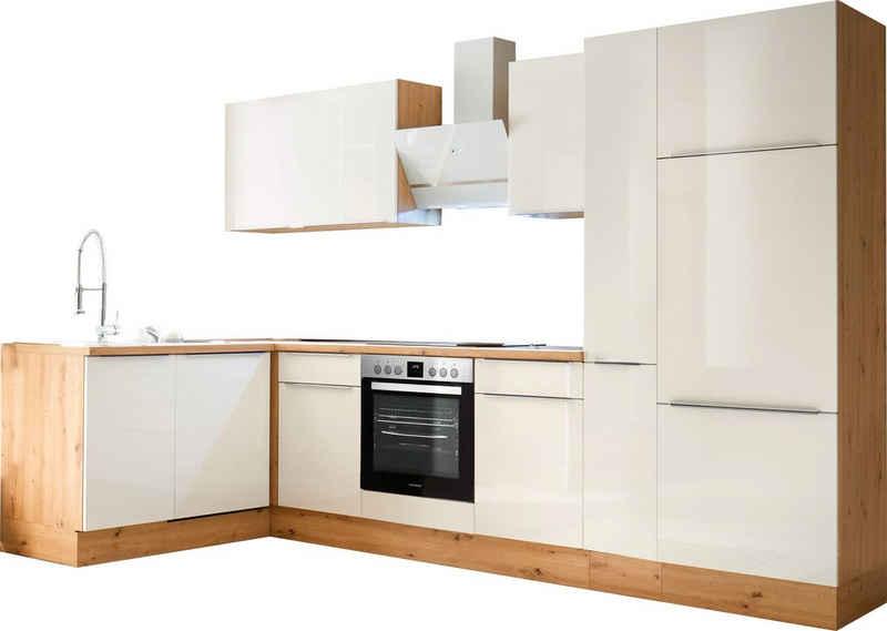 RESPEKTA Winkelküche »Safado«, mit 2 E-Geräte-Sets zur Auswahl, hochwertige Ausstattung wie Soft Close Funktion, schnelle Lieferzeit, Breite 310 x 172 cm