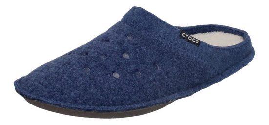 Crocs »Classic Slipper« Hausschuh Blau (Cerulean Blue/Oatmeal)