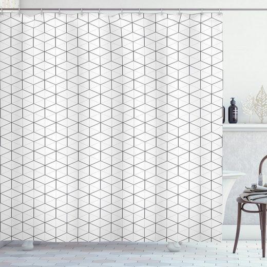 Abakuhaus Duschvorhang »Moderner Digitaldruck mit 12 Haken auf Stoff Wasser Resistent« Breite 175 cm, Höhe 200 cm, Geometrisch Linien und Quadrate