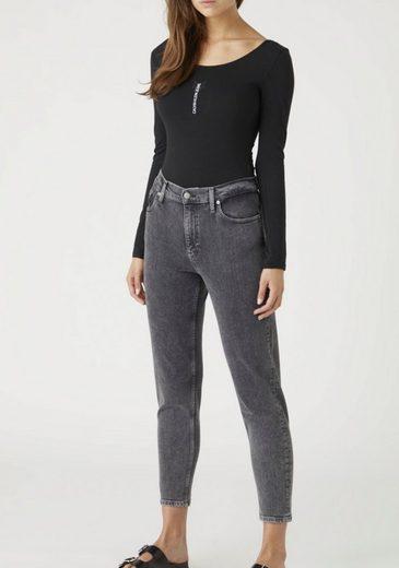 Calvin Klein Jeans Langarmbody »Logo LS body« mit kleinem, vertikalem Calvin Klein Jeans Logo-Schriftzug