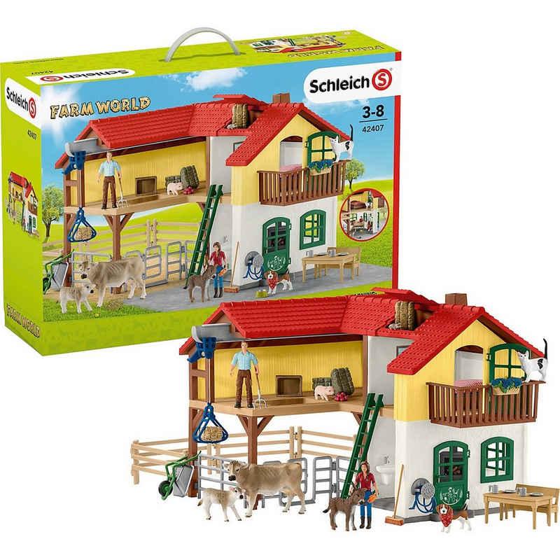 Schleich® Spielfigur »Schleich Farm World 42407 Bauernhaus mit Stall und«