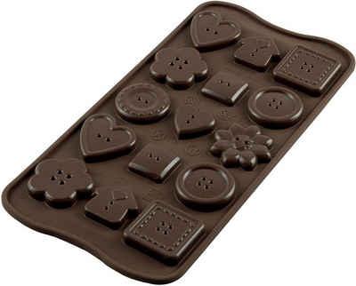 STÄDTER Silikonform »Silikomart Pralinenform Schokoform Choco Buttons«