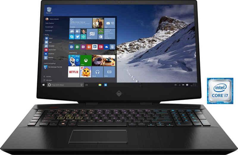 OMEN 17-cb0261ng Gaming-Notebook (43,9 cm/17,3 Zoll, Intel Core i7 9750H, GeForce RTX™ 2060, 1000 GB SSD, Kostenloses Upgrade auf Windows 11, sobald verfügbar)