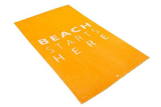 Vossen Strandtuch »Summerlocation«, mit Schriftzug