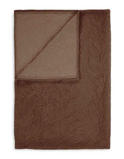 Plaid »Roeby«, Essenza, mit elegant gesticktem Paisley-Muster