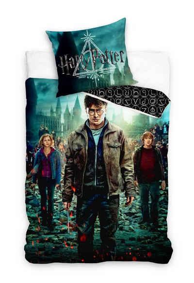 Bettwäsche »Harry Potter - Wende-Bettwäsche-Set, 135x200 cm & 80x80 cm«, Harry Potter, 100% Baumwolle