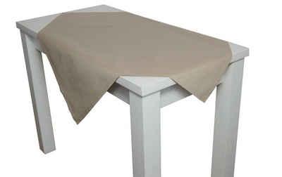 beties Mitteldecke »Farbenspiel«, ca. 80x80 cm Tischdecke in interessanter Größen- und Farbauswahl 100% Baumwolle für eine fröhlich Stimmung Uni Farbe (Toffee)