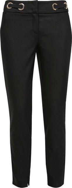 Hosen - Comma Stretch Hose mit Zierösen am Bund ›  - Onlineshop OTTO