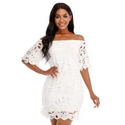 LAPA Strandkleid »LAPA Schulterfreies Kleid, Spitzenkleid«