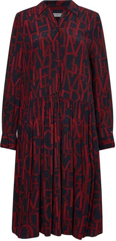 Tommy Hilfiger Blusenkleid »VIS KNEE F&F DRESS BRACELET SLV« mit Buchstabenprint