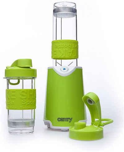 Camry Standmixer CR 4069, 500 Watt, 600-470ml, Smoothie Maker Standmixer, mit zwei To-Go-Bechern, Grün