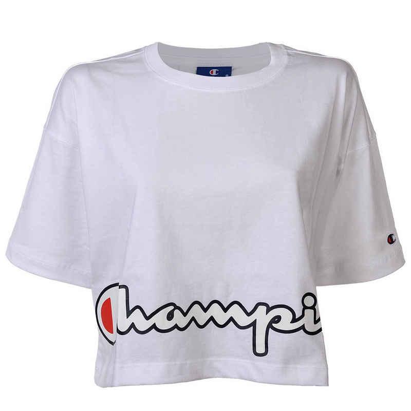 Champion T-Shirt »Damen T-Shirt, bauchfrei - Crop-Top, Logo-Print,«