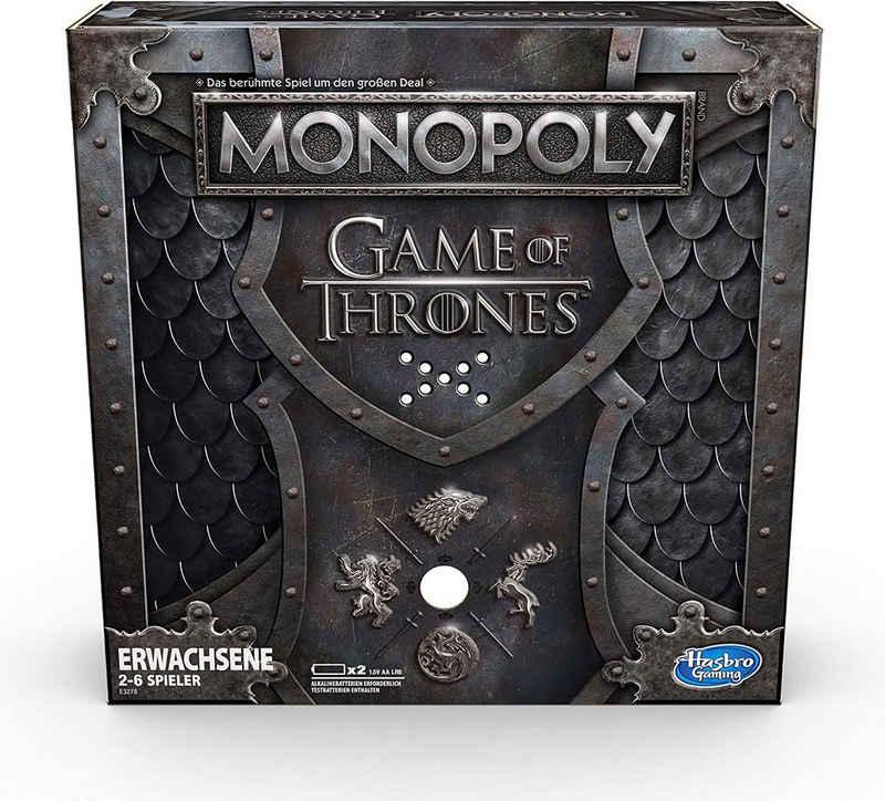 Hasbro Spiel, Brettspiel »Monopoly Game of Thrones«, mit Musikausgabe