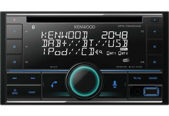 Kenwood Audio-System (Kenwood DPX-7200DAB - 2-DIN DAB+, Bluetooth, USB, VarioColor, Alexa, Spotify Autoradio)