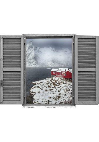 queence Wandtattoo »Norwegen Winter« (1 vienet...