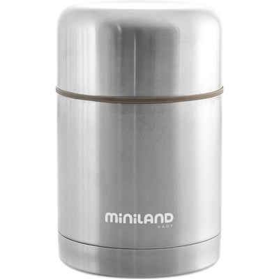 Miniland Isolierflasche »Thermobehälter Silky Thermo Food, 600ml, silber«