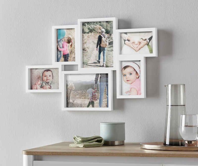 my home Bilderrahmen Collage, für 6 Bilder, Fotorahmen, weiß
