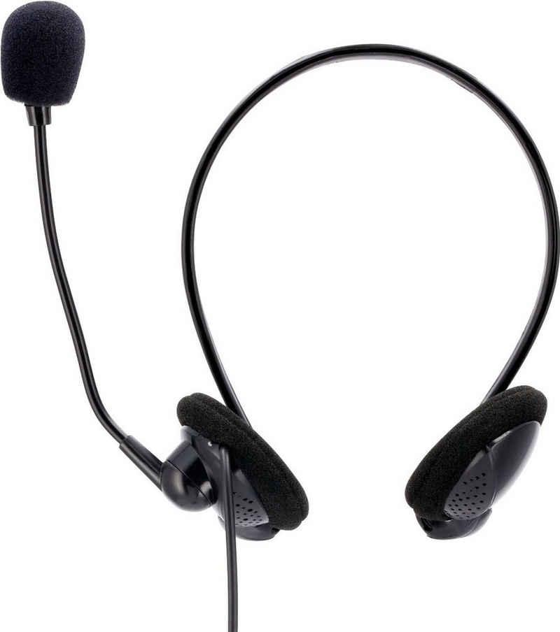 "Hama »PC-Office-Headset ""NHS-P100"" mit Neckband« On-Ear-Kopfhörer"