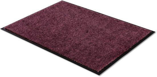 Fußmatte »Miami Uni«, SCHÖNER WOHNEN-Kollektion, rechteckig, Höhe 7 mm, Schmutzfangmatte, waschbar