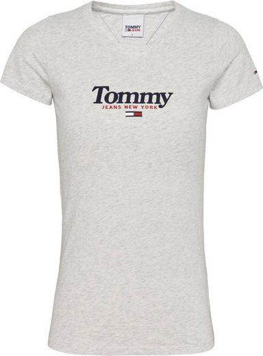 TOMMY JEANS Rundhalsshirt »TJW ESSENTIAL LOGO TEE« mit Tommy Jeans City Logo-Print