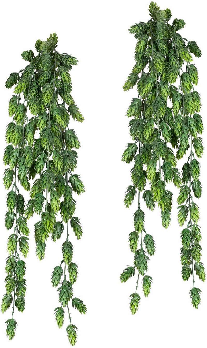 Kunstranke »Hopfenhänger« Blatthänger, Creativ green, Höhe 75 cm