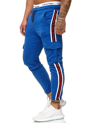 OneRedox Jogginghose »1224C« (Sporthose Trainingshose Sweatpants, 1-tlg., im modischem Design) Fitness Freizeit Casual
