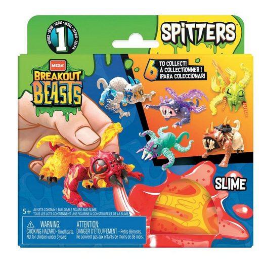 Mattel® Spielfigur »Mattel GGJ55 sort. - Mega Bloks - Breakout Beasts - Spitters, gruselige Schleimfiguren, mehrfach sortiert, Serie 1«
