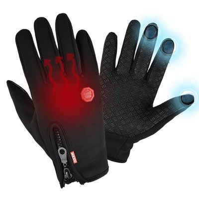Lapalife Fleecehandschuhe »Herren Damen Thermo Warm Touchscreen Handschuhe,Winter Wasserdicht Fahrrad« rutschfestem Design