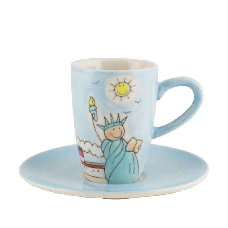 Mila Espressotasse »Mila Keramik Espresso-Tasse mit Untere New York«, Keramik