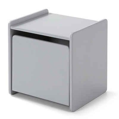 Lomadox Nachtschrank »SLIGO-12« Nachttisch mit 1 Tür hellgrau lackiert B x H x T ca. 40 x 41 x 36cm