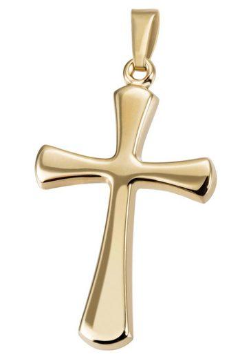 Firetti Kettenanhänger »Kreuz, schlicht, glänzend«