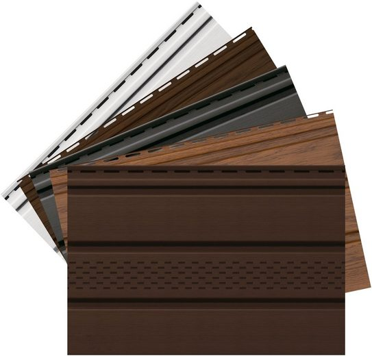 Baukulit VOX Verkleidungspaneel »SOFFIT - Musterset«, BxL: 15x34 cm, (Set, 5-tlg) weiß