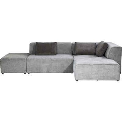 KARE Sofa »Ecksofa Infinity Ottomane Rechts Grau«