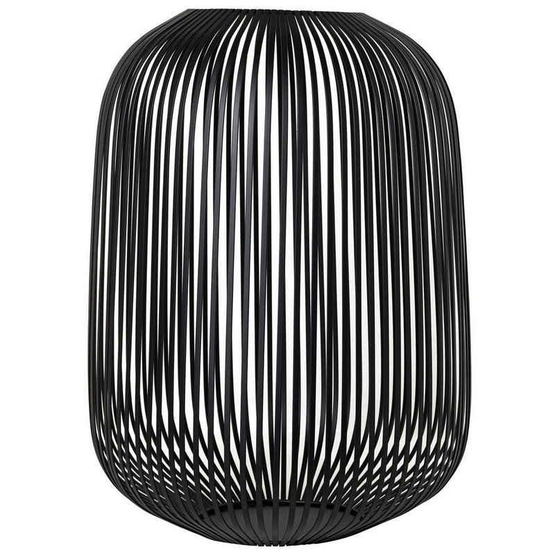 BLOMUS Laterne »LITO Schwarz Large H 45 cm; Modernes Indoor Windlicht«