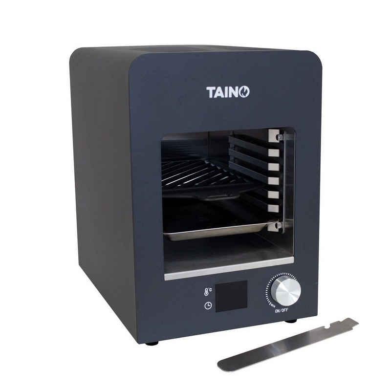 TAINO Elektro-Standgrill TAINO Elektro Hochleistungsofen, 1800 W, Einfache Bedienung, Temperaturen bis zu 800°C, Verschiedene Hitzezonen, inkl. Timer, Gusseiserne Grillplatte